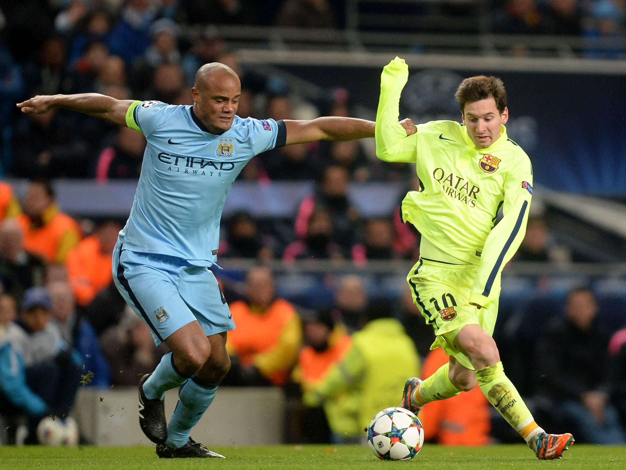 Lionel Messi and Vincent Kompany