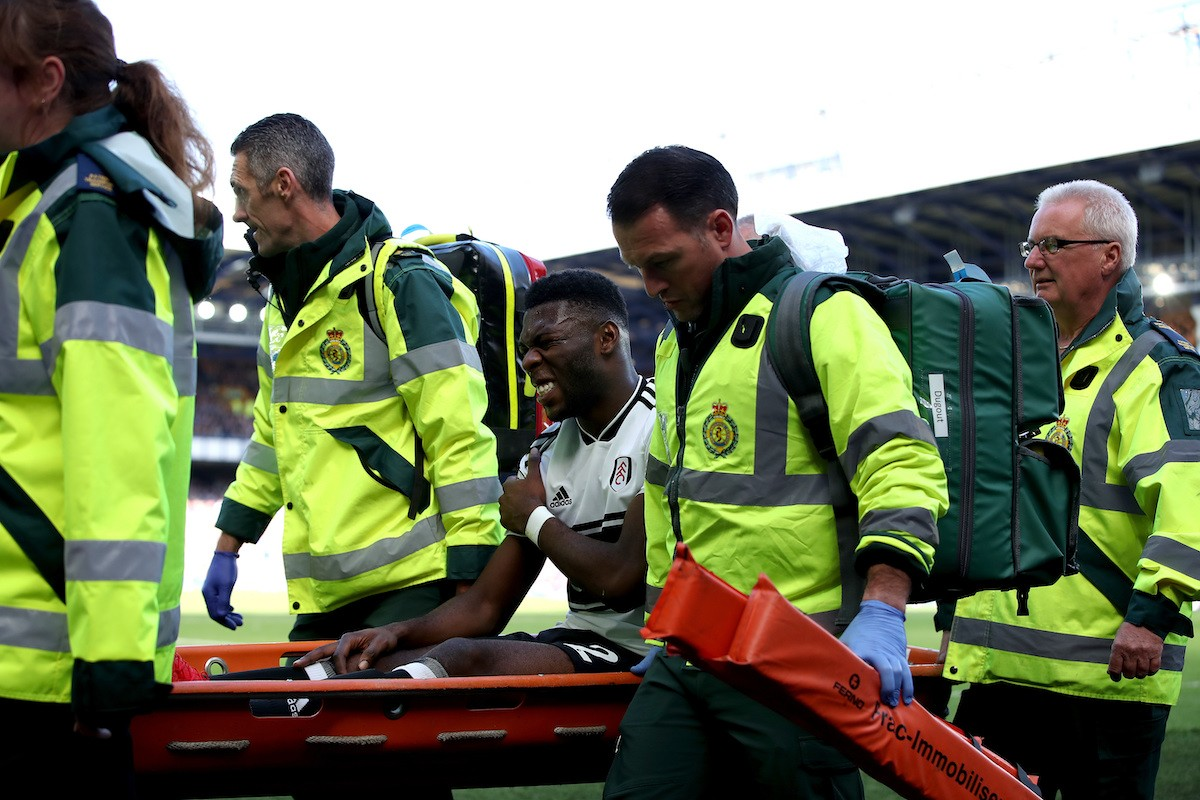Fosu_Mensah_carried_off_during_a_game_for_fulham_football4football